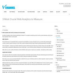 3 Most Crucial Web Analytics to Measure