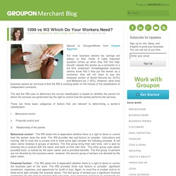 1099 vs W2 Which Do Your Workers Need? - The Groupon Local Merchant Blog