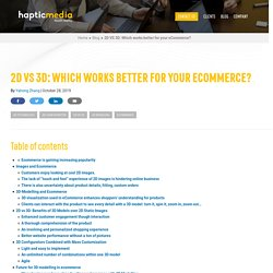 2D VS 3D: Which works better for your eCommerce?