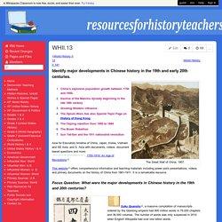 resourcesforhistoryteachers - WHII.13