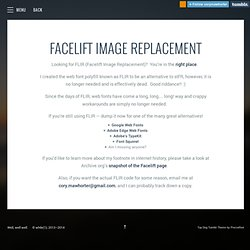 Facelift Image Replacement