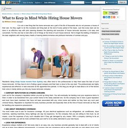 What to Keep in Mind While Hiring House Movers