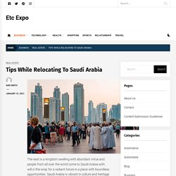 Tips While Relocating To Saudi Arabia