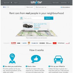WhipCar.com - the Neighbour to Neighbour Car Club and Car Rental Service. | WhipCar
