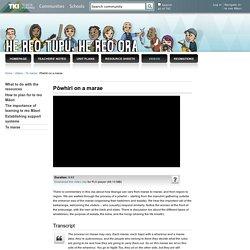 Pōwhiri on a marae / Te marae / Videos / Homepage - He reo tupu, he reo ora