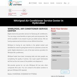 Whirlpool Air Conditioner Service Center in Hyderabad