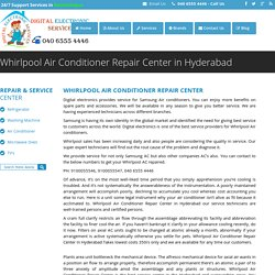 Whirlpool Air Conditioner Repair Center in Hyderabad