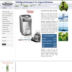 Whirlpool Europe C.S. Export Division