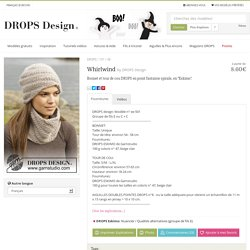 "Whirlwind - Bonnet et tour de cou DROPS en point fantaisie spirale, en ""Eskimo"". - Free pattern by DROPS Design"