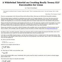 A Whirlwind Tutorial on Creating Really Teensy ELF Executables for Linux