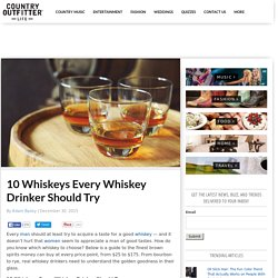 10 Whiskeys Every Whiskey Drinker Should Try