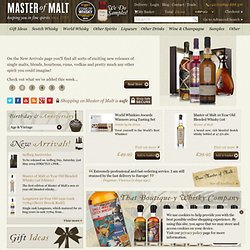 Buy Whisky Online | Single Malt Whisky & More - Master of Malt