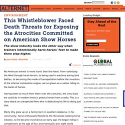 Atrocities Committed on American Show Horses
