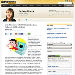 Whistleblower site Cryptome hacked, defaced, all files deleted