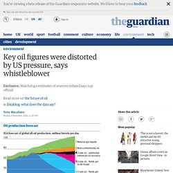 Key oil figures were distorted by US pressure, says whistleblower