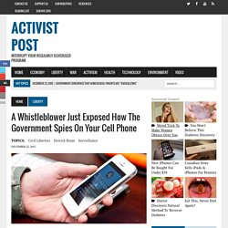 A Whistleblower Just Exposed How the Government Spies on Your Cell Phone