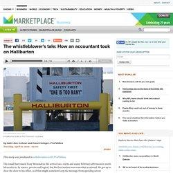 The whistleblower's tale: How an accountant took on Halliburton