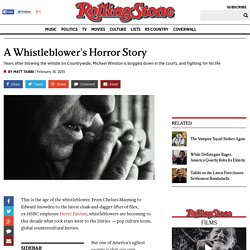 A Whistleblower's Horror Story - Rollingstone fev 15