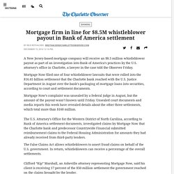 Mortgage firm in line for $8.5M whistleblower payout in Bank of America settlement