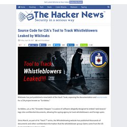 Source Code for CIA's Tool to Track Whistleblowers Leaked by Wikileaks