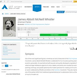 James Abbott McNeill Whistler Biography, Art, and Analysis of Works