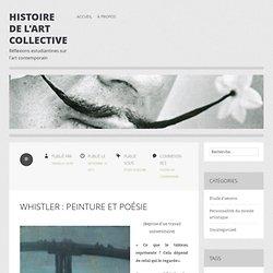 Whistler : peinture et poésie