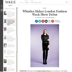 Whistles London Fashion Week Show Debut - Salon Presentation - Limited Edition Premium Line