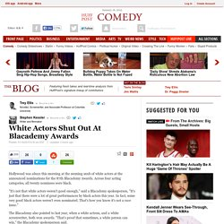 White Actors Shut Out At Blacademy Awards