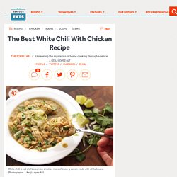 The Best White Chili With Chicken Recipe