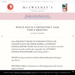 4/6/20: White House Coronavirus Task Force Briefing