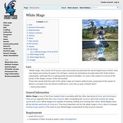 White Mage - Final Fantasy XIV A Realm Reborn Wiki - FFXIV / FF14 ARR Community Wiki and Guide