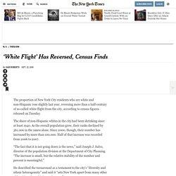 'White Flight' Has Reversed, Census Finds