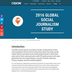 White Paper: 2016 Global Social Journalism Study