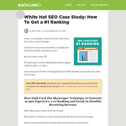 White Hat SEO Case Study: How To Get a #1 Ranking