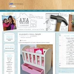 Build An Olivia's Doll Crib
