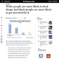 White people are more likely to deal drugs, but black people are more likely to get arrested for it