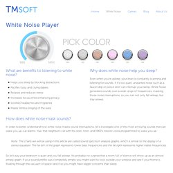 White Noise Player - Free White Noise Generator by TMSOFT