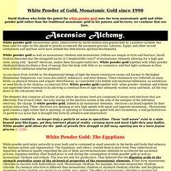 White Powder Gold
