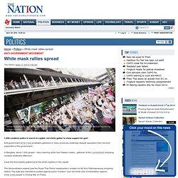 White mask rallies spread