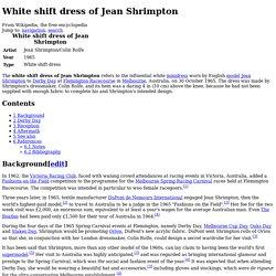 White shift dress of Jean Shrimpton