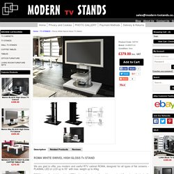 Roma White Swivel High Gloss TV Stand