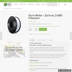 Pure White - Zortrax Z-ABS Filament, Dream 3D