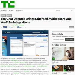 TinyChat Upgrade Brings Etherpad, Whiteboard And YouTube Integra