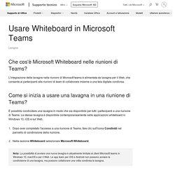 Usare Whiteboard in Microsoft Teams - Supporto di Office