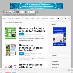 The Whiteboard Blog - Supporting the use of technology in the classroom
