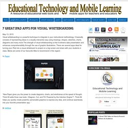 Educational Technology and Mobile Learning: 7 Great iPad Apps for Visual Whiteboarding