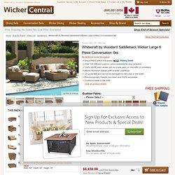 Whitecraft by Woodard Saddleback Wicker Large 6 Piece Conversation Set - Saddleback - WhiteCraft - Shop By Brand