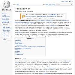 Whitehall Study