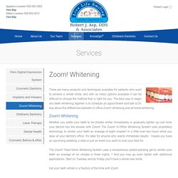 Zoom Teeth whitening Appleton Fox Valley Green Bay Neenah