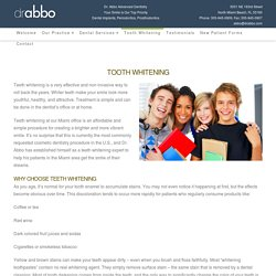 Teeth Whitening In North Miami Beach, Sunny Isles,Aventura